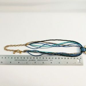 Chico's Jewelry - Chico's Blue & Green Seed Bead Statement Necklace